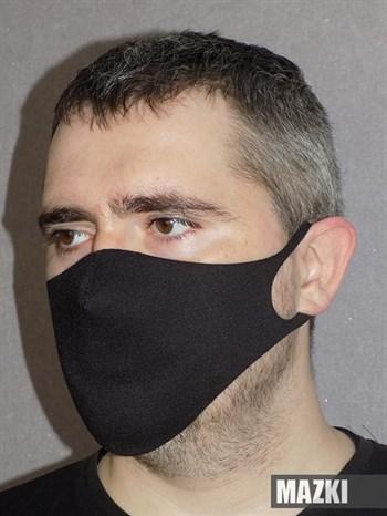 Черная защитная повязка на лицо - фото 35234