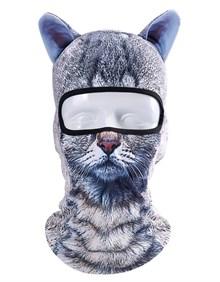 МАСКА БАЛАКЛАВА С УШАМИ (ушками) BB G02 (кот кошка котенок киска котик)