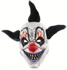 Довольный черный клоун