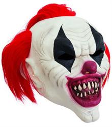 Сумасшедший клоун с красными волосами
