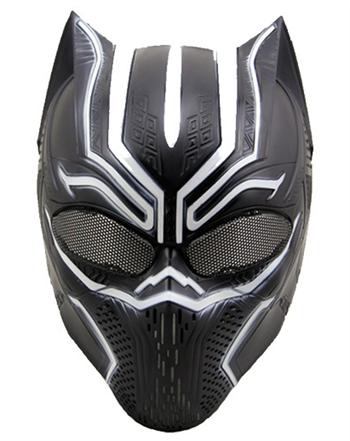 маска из пластика черная пантера