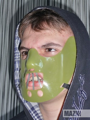 Маска Ганнибала Лектера (зеленая)
