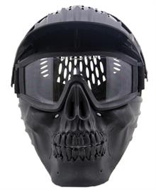 маска шлем для пейнтбола черный череп
