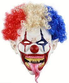 Клоун с языком, в парике
