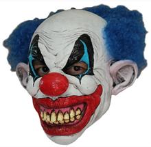 Страшный клоун с синими волосами