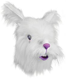 Белый плюшевый кролик