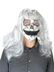 Белый призрак с волосами