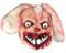 Кролик-Убийца, плюшевый розовый - фото 35504