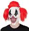 Сумасшедший клоун с красными волосами - фото 36764